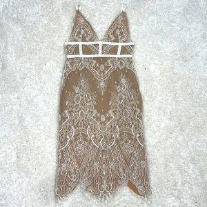 MISHA Lace Midi Dress Sz 8